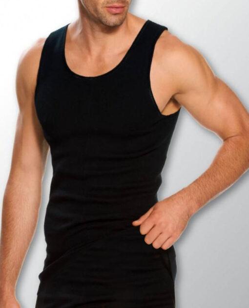 Siyah renk Erkek Yün Atlet